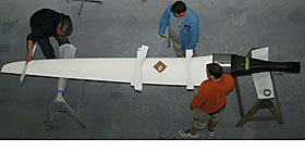 High Aspect 4.4 meter rudder